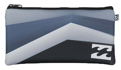 Brand New + Tag Billabong Small Neoprene Pencil Case Logo Black Grey