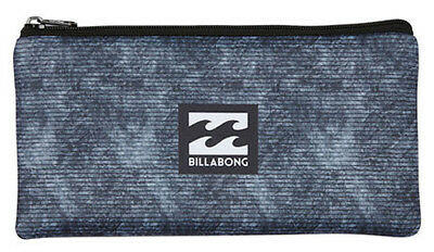 Brand New + Tag Billabong Mini Neoprene Pencil Case Logo Black Grey