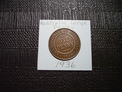 Old Australia Large Penny Coin 1936    Closeout Sale