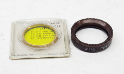 Rolleiflex Bayonet 1 Bay 1 Series 5 Filter Adapter with Yellow Filter