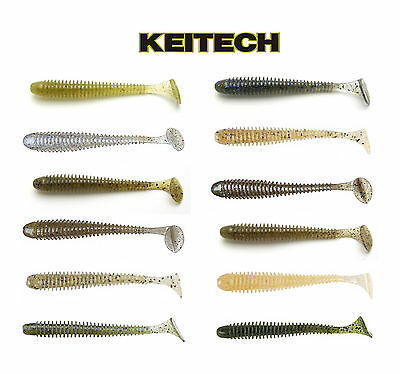 "KEITECH SWING IMPACT SWIMBAIT 2"" (5 CM) 12 PACK select colors"