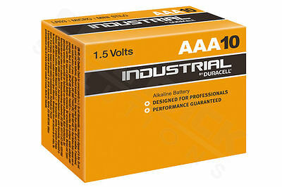 10 X Duracell AAA Industrial MN2400 Battery Alkaline Replaces Procell Exp 2021