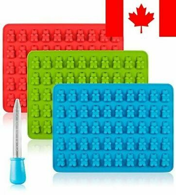 Candy Silicone Molds & Ice Cube Trays, SENHAI 3 Pack Gumdrop Jelly Molds, Cho...