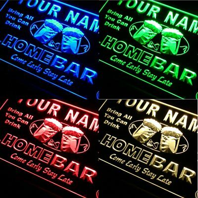 20+ Colors Name Personalized Custom Home Bar LED Neon Sign with Remote Control