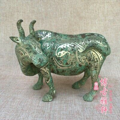 antique    Ancient Chinese bronze coppering.as silver cattle.