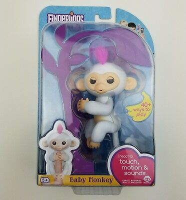 Authentic Fingerlings Interactive Baby Monkey Sophie By