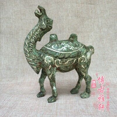 antique   The ancient Chinese bronze coppering.as silver pattern camels.