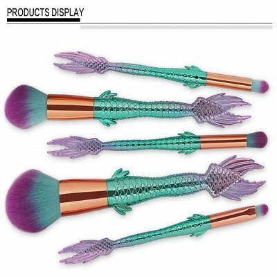2017 Sexy Make Up Mermaid Brushes Eyeshadow Concealer Blush Contour Brush Set