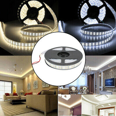 5M Double Row SMD 3528 1200LED Strip White/WarmWhite 240LED/M Light Waterproof