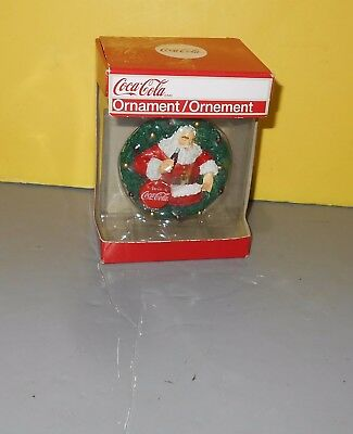 2010 American Greetings Coca Cola Bottle Cap Santa Christmas Ornament