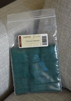 Longaberger Handle Gripper ~ Ivy Fabric ~ Button Style ~ New!