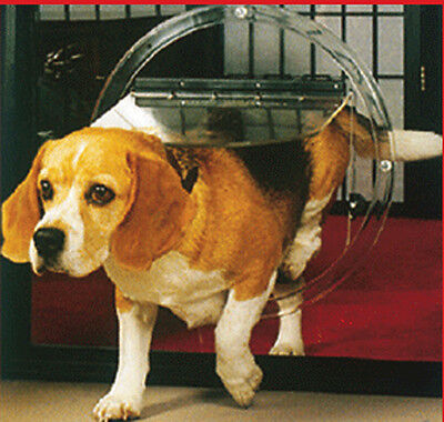 DOG DOOR by TRANSCAT - GLASS FITTING - 4 WAY LOCKING, MADE IN NZ RRP $130
