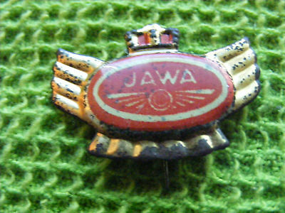 JAWA  Motorcycle very old lapel,hat pin badge.Probably 1950s.(B)