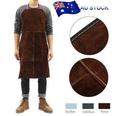 Welding Apron Heat Insulation Cow Leather cowhide Welder Protection 60x90cm Gift