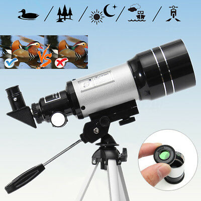 Xmas Gift F30070M 150 x Zoom Terrestrial Astronomical Telescope 300mm x 70mm AU