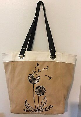 Thirty One Open Top Essential Storage Tote in Tan - Shopping Bag EUC