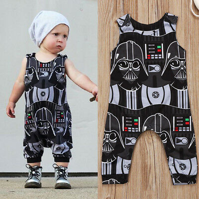 UK Stock Fashion Kids Baby Boys Star Wars Romper Jumpsuit Clothes Outfits 0-3Y