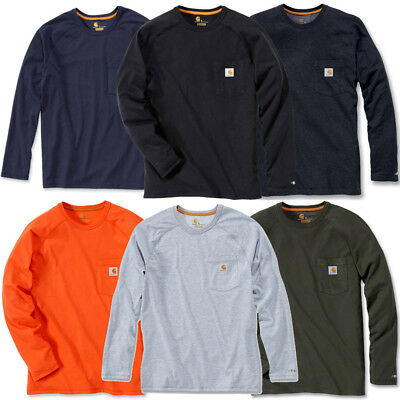 Carhartt Mens Long Sleeve Force Cotton Polyester Fast Drying T-Shirt