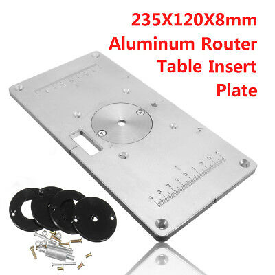 235 x 120 x 8mm woodworking aluminum router table insert plate with 235 x 120 x 8mm aluminum router table insert plate insert ring woodworking diy greentooth Image collections