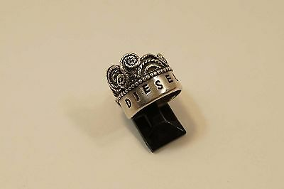 Diesel Sterling Silver Crown Style Ring Size 7 1/2  A376