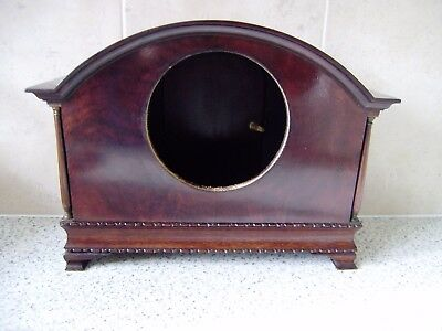 Edwardian Mahogany Mantel Clock Quality Case Only 1905 4 Carved Pad Feet No 4