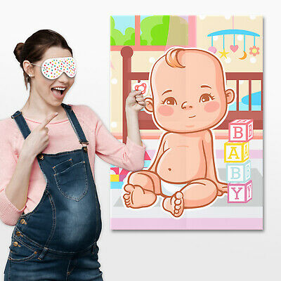 Pin the Dummy on the Baby Game - Baby Shower Party Games ~ Boy / Girl / Unisex