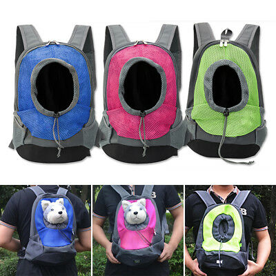 Pet Dog Puppy Backpack Carrier Travel Note Bag Front Net Double Sling Shoulder