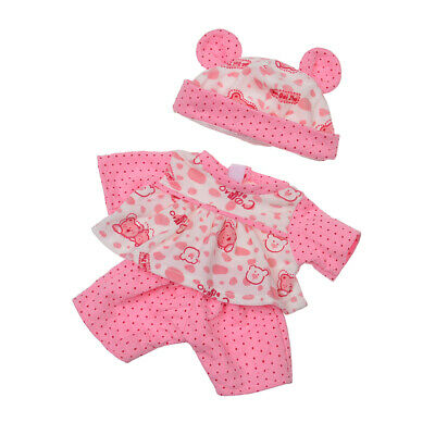 Pink Doll Dress Up Outfit with Hat for 18'' American Girl AG Doll Clothes