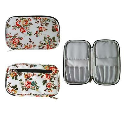 Flower Crochet Hook Case Needles Knitting Accessories Organizer Zipper Bag