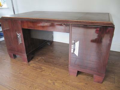 Art Deco Desk Rosewood Effect