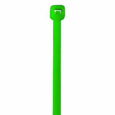 """Box Partners Colored Cable Ties 40# 5 1/2"""" Green 1000/Case CT433A"""