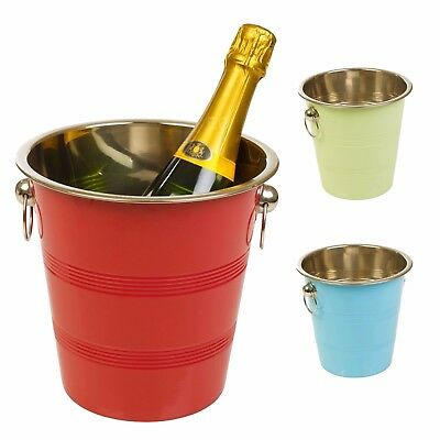 Metal Chic Champagne Ice Cooler Bucket Drink Wine Trough Party Accessory Beer