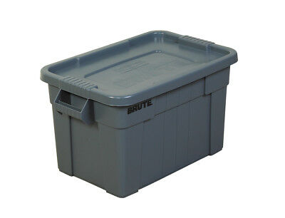 """Brute Totes with Lid 28"""" x 18"""" x 15"""" Gray 1/Each RUB117"""
