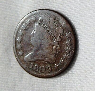 1809 Classic Head HALF CENT**Triple-Punched 9**HISTORIC COIN**Nice Details!Offer