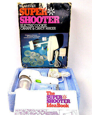Super Shooter Electric Candy Cookie Press by Wear Ever Complete Good Condition C