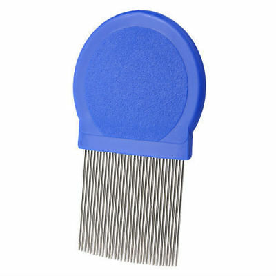 New Metal Round Nit Hair Gritty Comb Handle Removes Head Lice Eggs Uk Seller
