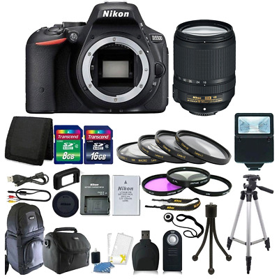 Nikon D5500 24.2 MP Digital SLR Camera + 18-140mm DX VR Lens + 24GB Top Kit 1548
