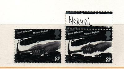 ERROR  1976  SG1001 SOCIAL REFORMERS 8p  SHIFT DOUBLE HANDS MNH