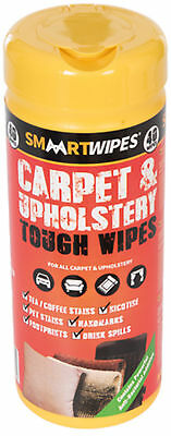 Smaart Wipes Carpet & Upholstery Tough Wipes DIY Tool Pack Of 40 Piece