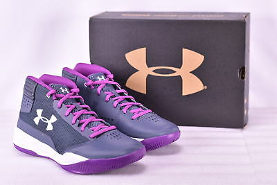 Girl's Under Armour 1296011962 Jet 2017 Basketball Shoes Apollo Grey   6Y