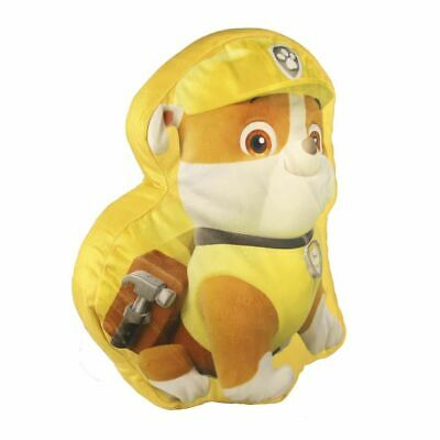 Paw Patrol Rubble Shaped Cushion for Children - Yellow