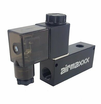 """1/4"""" air ride valve 12v fast solenoid compact car truck motorcycle suspension"""