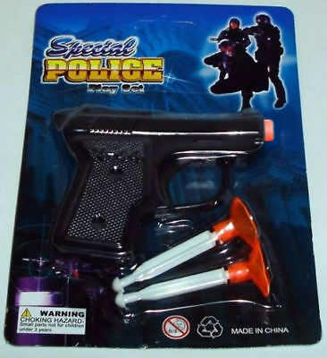 kids black toy gun with shooters for shooting stocking filler playset
