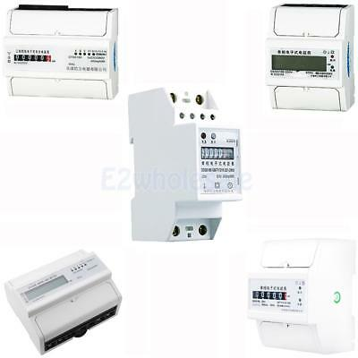 15 Kinds 1, 3 Phase 2, 4 Wire Power kWh Energy Sub Meter DIN Rail Mount PICK