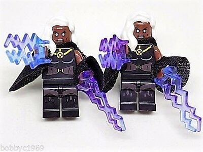 Handmade LEGO® Storm Marvel Cufflinks, Silver Plated Toggles, Gift Boxed!