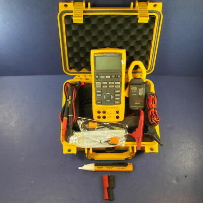 Fluke 725 Multifunction Process Calibrator, Very Good, Clamp, Hard Case, More