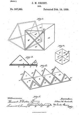 Singer Puzzle Box - Copy of Patent dated 1889