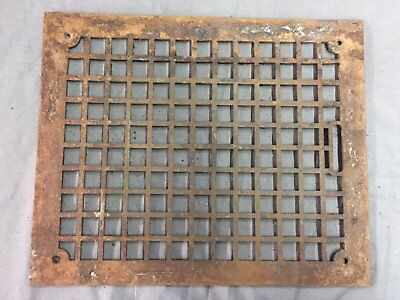Antique Cast Iron Grill Floor Vent Heat Grate Arts Crafts Old Vtg 15x12 24-17B