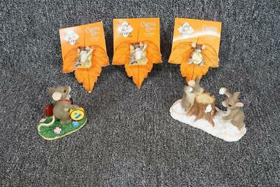 Assortment Of 5 Fitz And Floyd Charming Tails Figurines