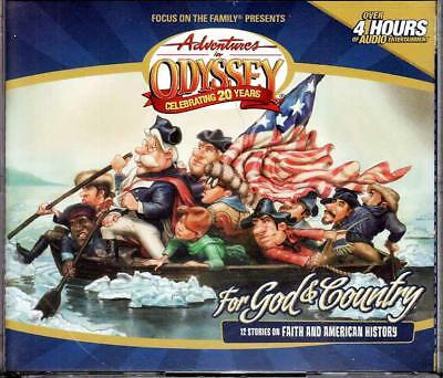 NEW Adventures in Odyssey FOR GOD AND COUNTRY 4 Audio CD Focus on the Family